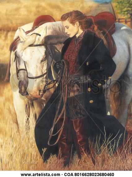 The Girl With Horses Lápiz