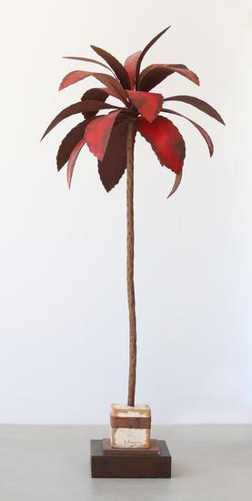 Palmera roja - José Onieva Metal Figurativa