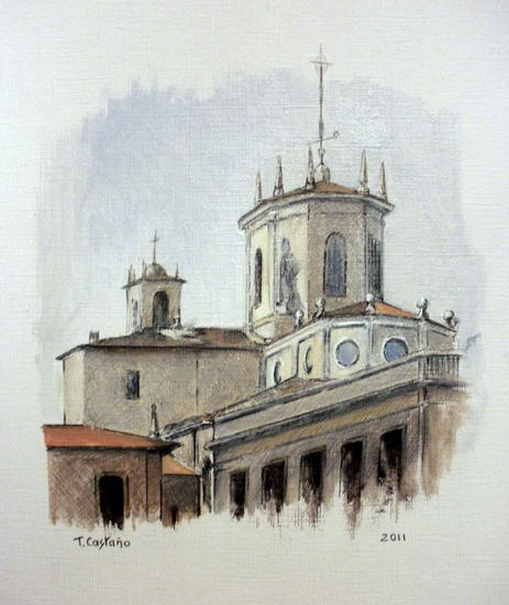 Catedral de Santander Papel Óleo Paisaje