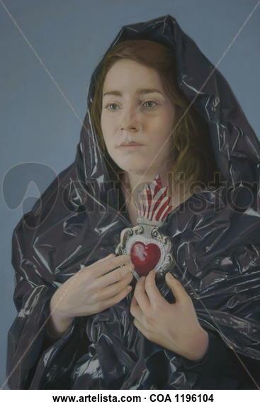 """""""Con el corazón entre las  manos"""" Portrait Pastel Paper"""