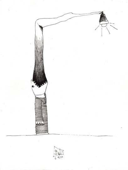 vomitando postes de luz Osvaldo Baldi- Artelista.