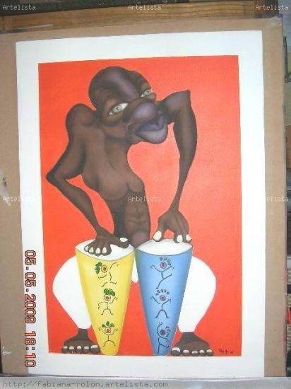El negrito candombero Acrílico Tabla Figura