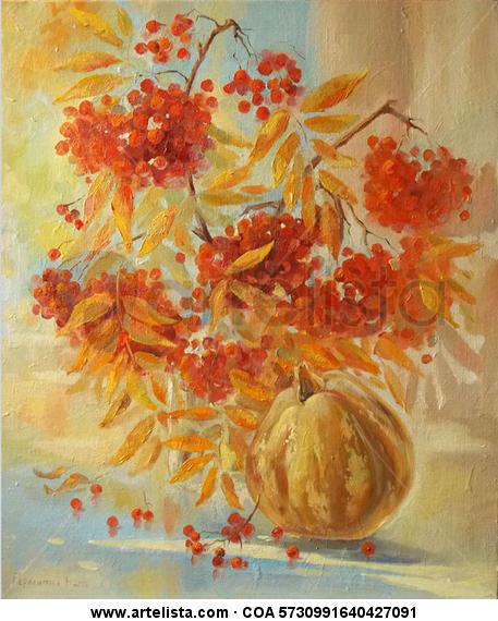 Rowan autumn Otros Óleo Bodegones