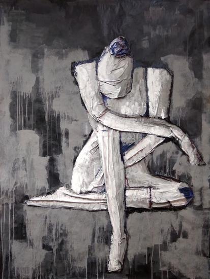 Mujer gris Figura Acrílico Tabla
