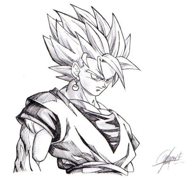 Goku Super Saiyan Lápiz