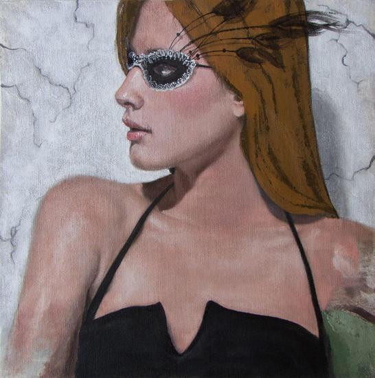 ¿Quién eres? Portrait Oil Textile