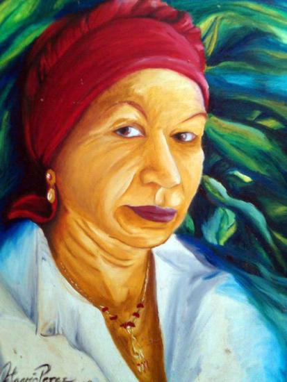 la mujer del turbante Lienzo Óleo Retrato
