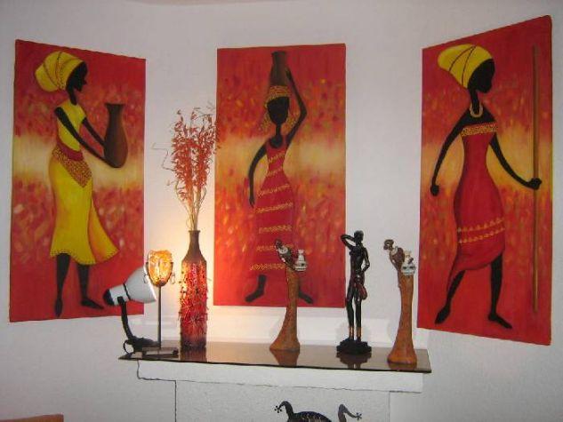Mujeres africanas Óleo Lienzo Figura