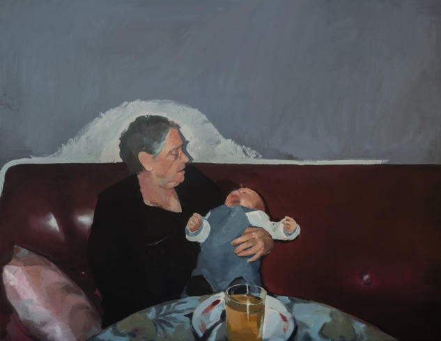 El niño no para Portrait Oil Canvas