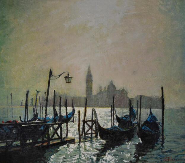 Reflejos en Venezia Marina Óleo Lienzo
