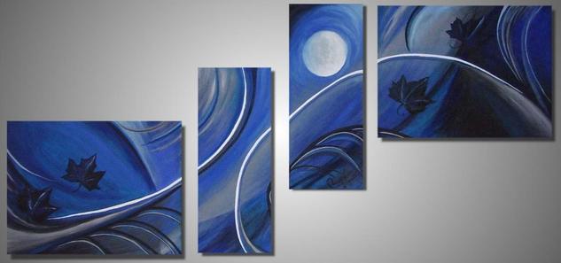 Azul de Otoño Lienzo Óleo Otros