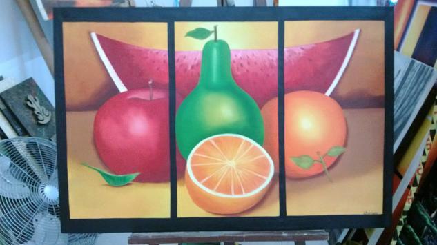 Frutas Bodegones Óleo Lienzo