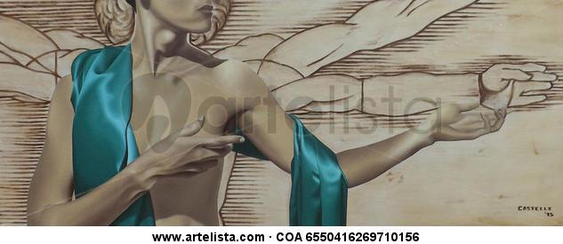 Renacimiento en Verde Canvas Oil Nude Paintings