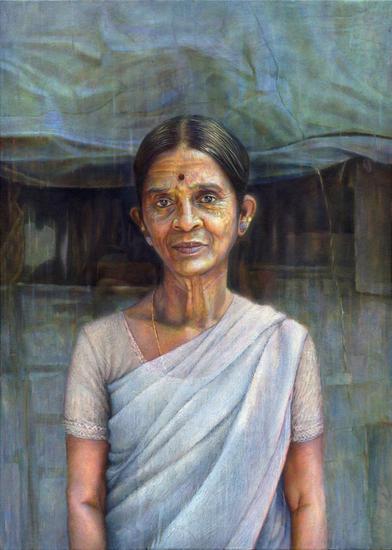 Kolam Artist Lienzo Óleo Retrato