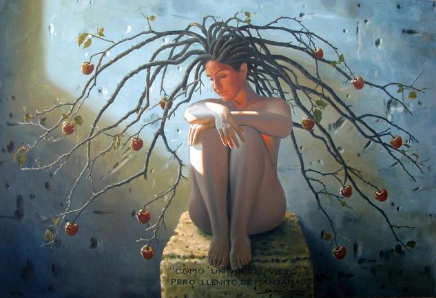 Como un árbol viejo, Denis Nuñez Rodríguez Óleo Lienzo Retrato
