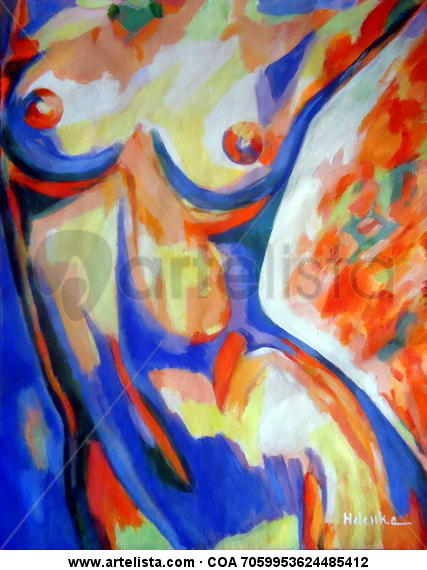 Free spirit Lienzo Acrílico Desnudos