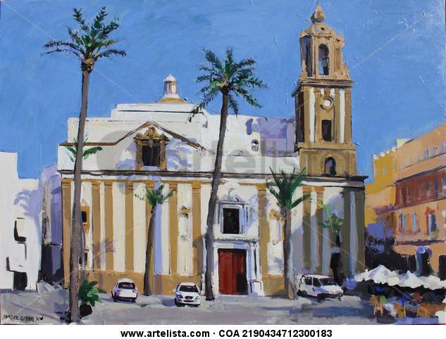 Plaza de la catedral Lienzo Acrílico Paisaje
