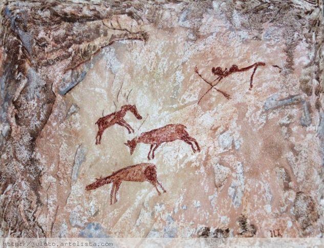 CAZA DE CABALLOS SALVAJES.- RACO DE NANDO Panel Others Animals