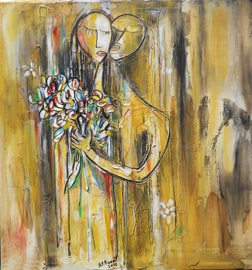 pareja con flores