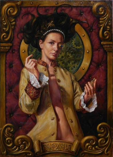 La Relojera Canvas Oil Nude Paintings