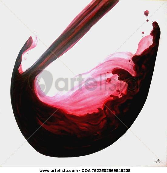 Copa de Vino Lienzo Acrílico Otros