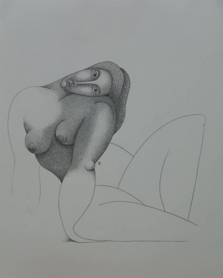 Seated Nude  2008 Lápiz