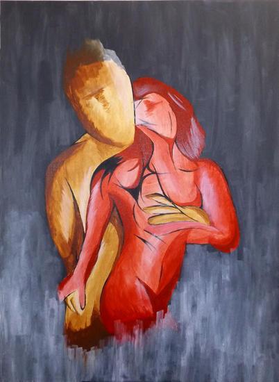 Lujuria Insaciable Canvas Acrylic Nude Paintings