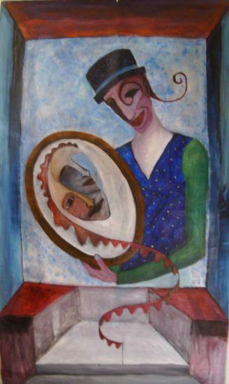 el circo de los espejos Acrílico Otros Tela