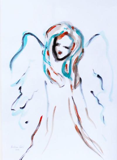 Angel Figura Acrílico Papel