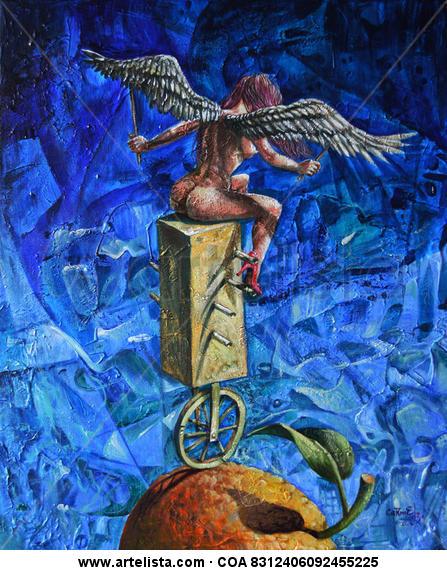 Ángel en equilibrio Desnudos Acrílico Lienzo