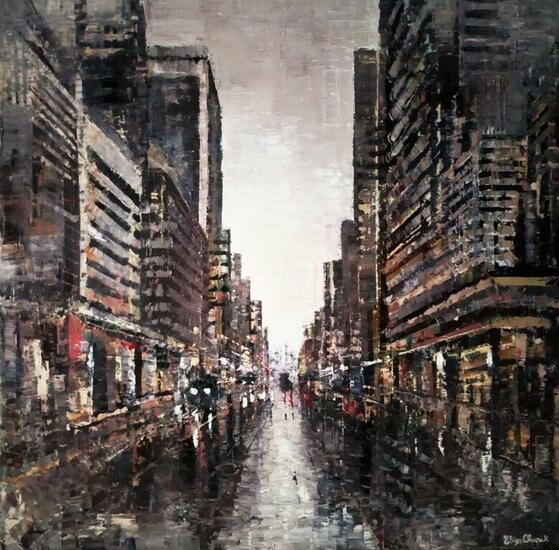 Buenos Aires gris Landscaping Oil Canvas