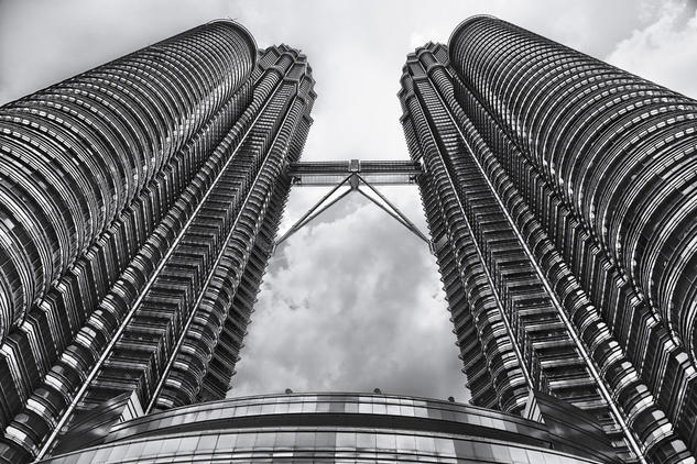 Petrona Towers, Kuala Lumpur, Malaysia #1 Arquitectura e interiorismo Blanco y Negro (Digital)