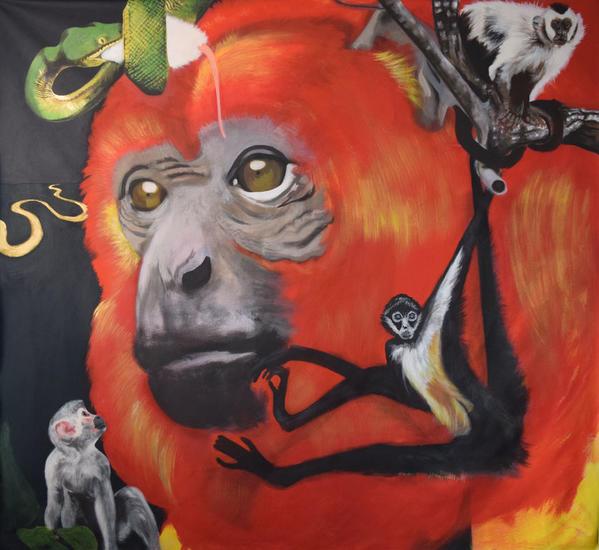 AMAZONICO Animales Acrílico Tela