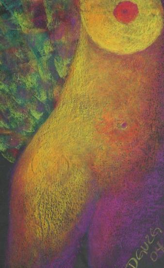 Desnudo 1 Pastel Papel Desnudos
