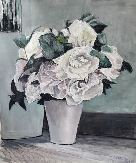 bouquet Floral Acrílico Lienzo