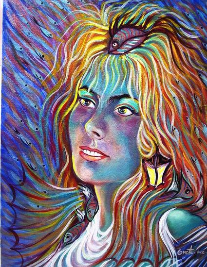 Autorretrato de la artista... Otros Acrílico Lienzo