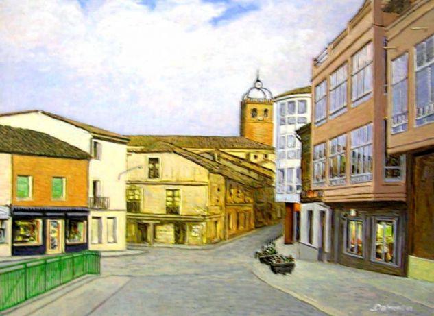 Osorno (Palencia) Cartulina Acrílico Paisaje
