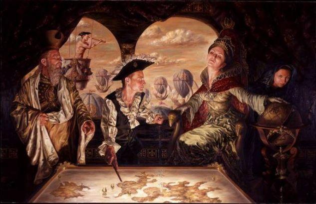 La Última Travesía Oil Canvas Figure Painting
