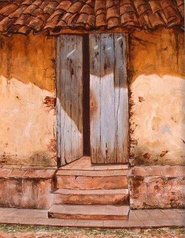 Puerta trinitaria antonio d az for Pintura para puertas