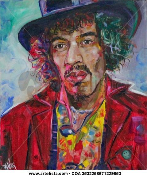Jimi Hendrix Tabla Acrílico Retrato