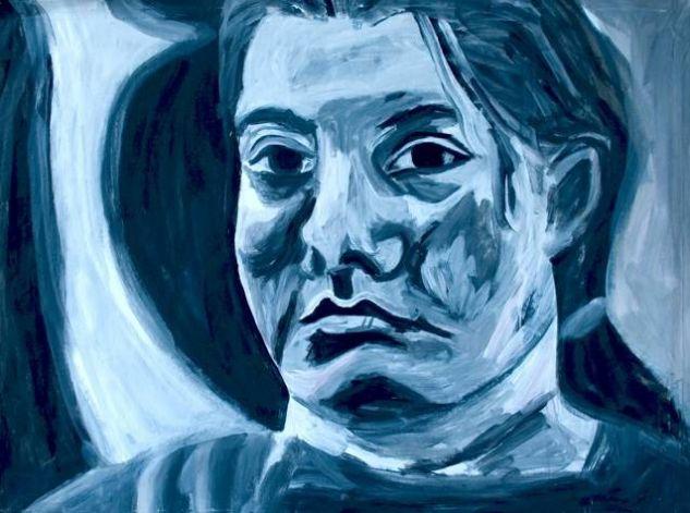 menina Acrílico Papel Retrato