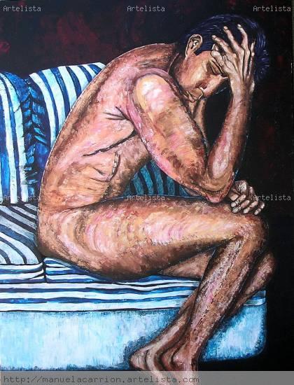 Meditación Acrílico Lienzo Retrato