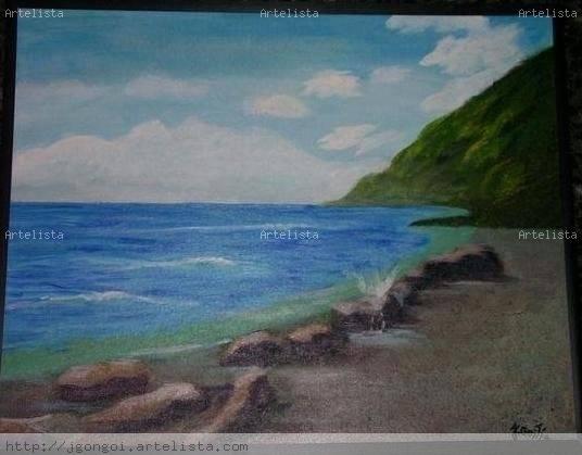 Mi playa Acrílico Lienzo Paisaje