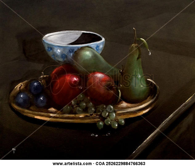 Bodegon con frutas Lienzo Óleo Bodegones