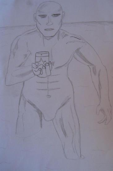 Hombre con bebida Pencil