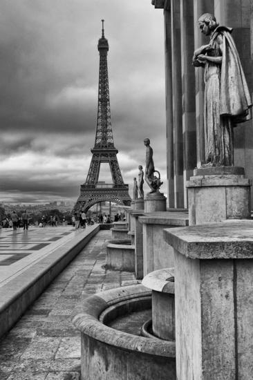 Tour Eiffel Black and White (Digital) Architecture and Interiorism