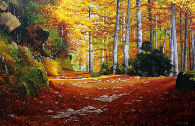 Resplandor de Otoño Canvas Oil Landscaping