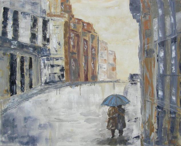 After the rain Lienzo Óleo Figura
