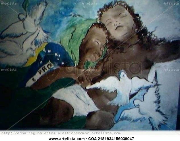 deitado em berço esplêndido Acrílico Lienzo Figura