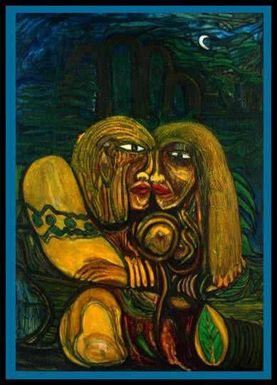 """Fuera del Paraiso"" 2003 (Original 7'x60''; óleo/canvas. Colecc. Priv.)® Desnudos Lienzo Otros"